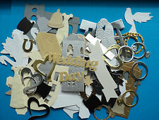 Mixed Wedding Anniversary Engagement die cut shapes approx 100 pieces
