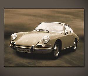 PORSCHE 912 COUPÉ Bild 911 Bilder 60er Leinwand Kunstdruck Malereistil Oldtimer