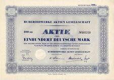 Ruberoidwerke AG 100dm hamburgo 1952