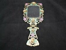 Hinged Dressing Table Hand Mirror Bouquet Design.