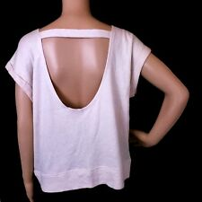 Victoria's Secret Angle Wings Women Top Open Back Color Ivory Size L - NWT