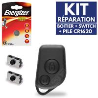 Boitier Coque Clé Plip pour Télécommande 106 Peugeot + Pile + Switch