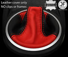 RED & BLACK REAL LEATHER MANUAL GEAR GAITER FITS HYUNDAI COUPE 2002-2008