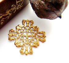 BRASS Openwork Cross Filigree Stamping ~ Jewelry Findings (CB-3045)
