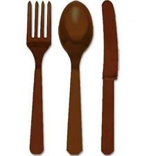 Chocolate Brown Heavy Weight Cutlery Set 24ct