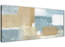 Blue Beige Brown Pittura Astratta Tela Art Print-moderno larghezza 120 cm - 1350