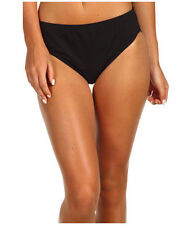 ** NWT $44   SPEEDO  CORE COMPRESSION  BLACK  SIZE  10   BIKINI BOTTOM  ONLY *