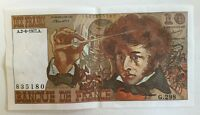 Billet De Banque 10 Francs Berlioz Du 2-6-1977 G.298 835180 1 Épinglage