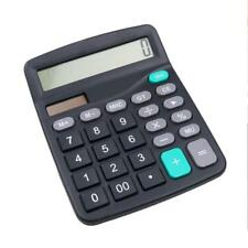 12-Dight Desk Calculator Jumbo Large Buttons Solar Desktop Battery Office  GRL s