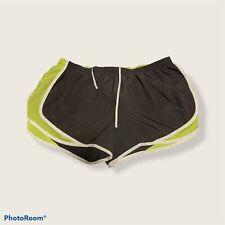 Arizona Women's Exercise Shorts Size Xl, Lined, Gray/ Green