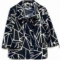 CHICO'S ZENERGY DESIGNER JACKET – BLACK & WHITE –Size 1 XL New $99