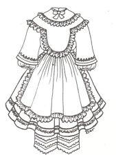 "Sewing Pattern fits 15-16"" Doll dress Shirley designs Bjd 231"