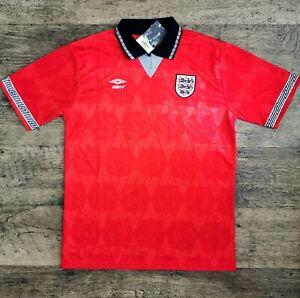 England 1990 Italia90 Umbro Football Shirt Mens Size large Retro