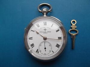 Solid Silver Rotherams Pocket Watch Circa 1921