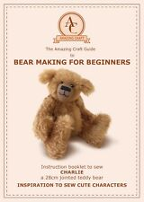 Mohair or Memory Teddy Bear Pattern for Beginners & 14 page instruction booklet