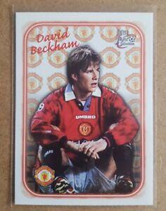 David Beckham Futera Embossed Card (Pack Fresh - Mint)