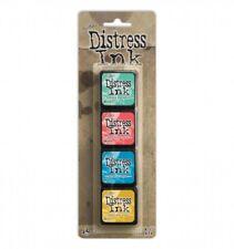 Ranger Mini Distress Ink Pad Set #13 by Tim Holtz | Set of 4