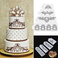 Spitze Blume Kuchen Cookie Fondant Seite Back Hochzeit Schablone Dekor R