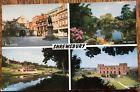 Shrewsbury 1963 Postmark Slogan Dingle School Square Castle Vintage Postcard