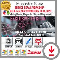 MERCEDES BENZ SERVICE REPAIR WORKSHOP MANUAL 04 2020 WIS ASRA EPC STARFINDER WSM