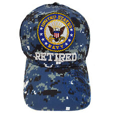 US Military Navy Retired Blue Camouflage Hat Cap