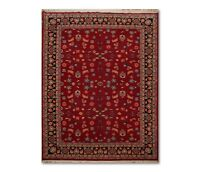 """8'10"""" x 12' Hand Knotted Romanian Sarouk Wool Oriental Area Rug Traditional Red"""