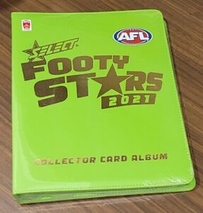 AFL FOOTY STARS PRESTIGE 2021 - SEALED CARD ALBUM - BINDER - BRAND NEW