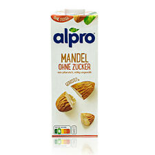 Alpro - Mandeldrink ohne Zucker 1 Liter - Mandel Drink ungesüßt 100 % pflanzlich