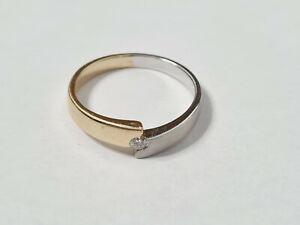 Diamant Ring Weiß/Gelbgold 585 Gold
