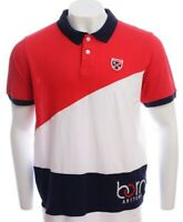 Mens Born Fly Polo Shirt XL Short Sleeves Logo Multi color T-shirt Shirt
