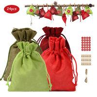 24 Stück Adventskalender Weihnachtskalender XMAS Befüllen Weihnachten Säckchen