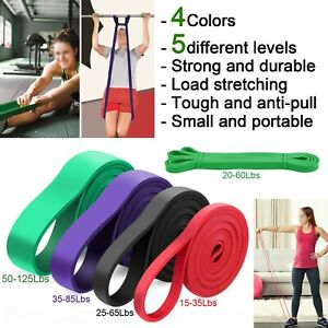 Heavy Duty Power Resistance Bands Gym Fitness Exercise Strength Yoga Workout