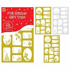 75  Gold & Silver Sticker Christmas Gift Tags/Traditional Foil Gift Label-8284