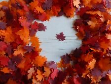 1 Pint of Autumn Glow Tissue Maple Leaves Wedding Party Confetti Decoration Bio