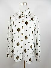ARA Vtg Long Sleeved Blouse White Casual Print Party Style Women's Plus size BH9