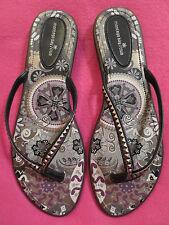 NEW Montego Bay Club Flip Flops Slip on Flat Thongs Sandals Shoes Womens 10