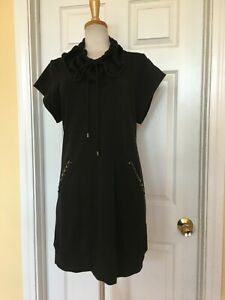 YAG black sweatshirt dress size L leisure wear Athleisure