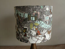 Bespoke Contemporary Steam Punk London Map Fabric Lampshade 25 30,35 & 40 cm dia