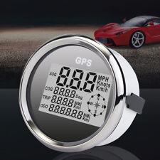 85mm Waterproof GPS Digital Speedometer Odometer Gauge Auto Car Truck Marine