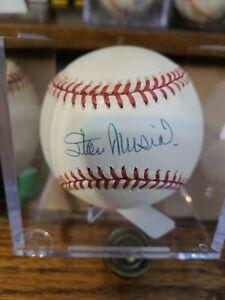 Stan Musial Autographed Baseball UDA