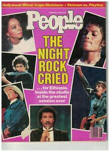 People Weekly USA Feb 25th 1985 USA For Africa Diana Ross/Michael Jackson