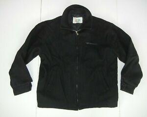Vtg 90s MICROSOFT WINDOWS 2000 Black Wool TECH COMPANY JACKET Work Coat Men's L