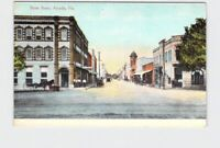 PPC POSTCARD FLORIDA ARCADIA STREET SCENE WITH HORSE CART CARS