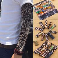 Nylon Kids Temporary Tattoo Sleeves Arm Stockings Tatoo Cool Unisex 18 Colors