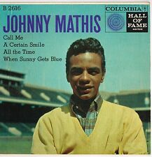 "JOHNNY MATHIS u.s. COLUMBIA 7"" E.P. B-2616_original vintage 1950's"