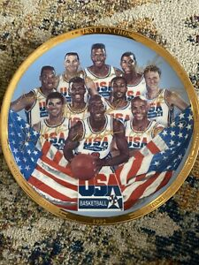 The First Ten Chosen 1992 USA Basketball Team LE Jordan Magic Pippen Bird Plate