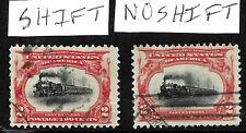 Sc #295 Pair Color Shift High Train EFO Pan Am 2 Cent 1901 US 85B62