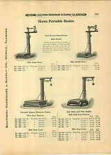 1910 PAPER AD Howe Portable Warehouse Platform Scale Bedford Union Counter Beam