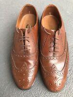 Florsheim Mens Dress Shoes Lace ups Wingtips Brown Leather 7.5EE Kool Kat