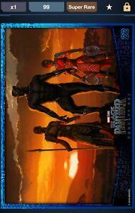 Topps Marvel Digital Collect Black Panther Concept Art Award 99CC